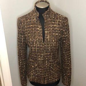 Zara Woman Tweed Wool Coat Blazer
